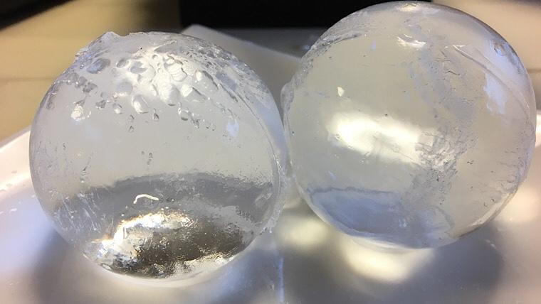 透明まる氷完成の画像