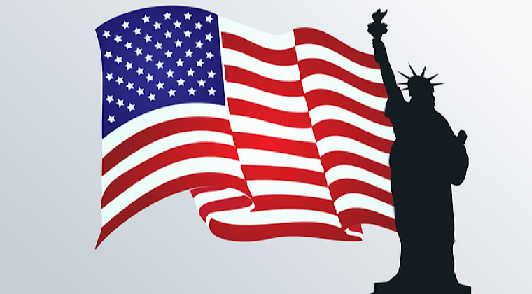 アメリカの国旗の画像