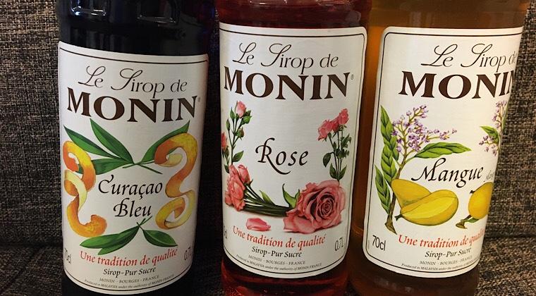 モナンシロップが3種類を撮った画像