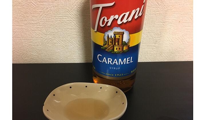 トラーニシロップを皿に移した画像